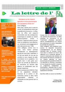 Couverture d'ouvrage: LETTRE DE L'ISRA N°16 : Anticipons sur les impacts agricoles et socio-économiques de la pandémie COVID-19 !